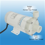MarinAire circulation pump MAP600KT,  600 GPH, salt water & fresh water 110V