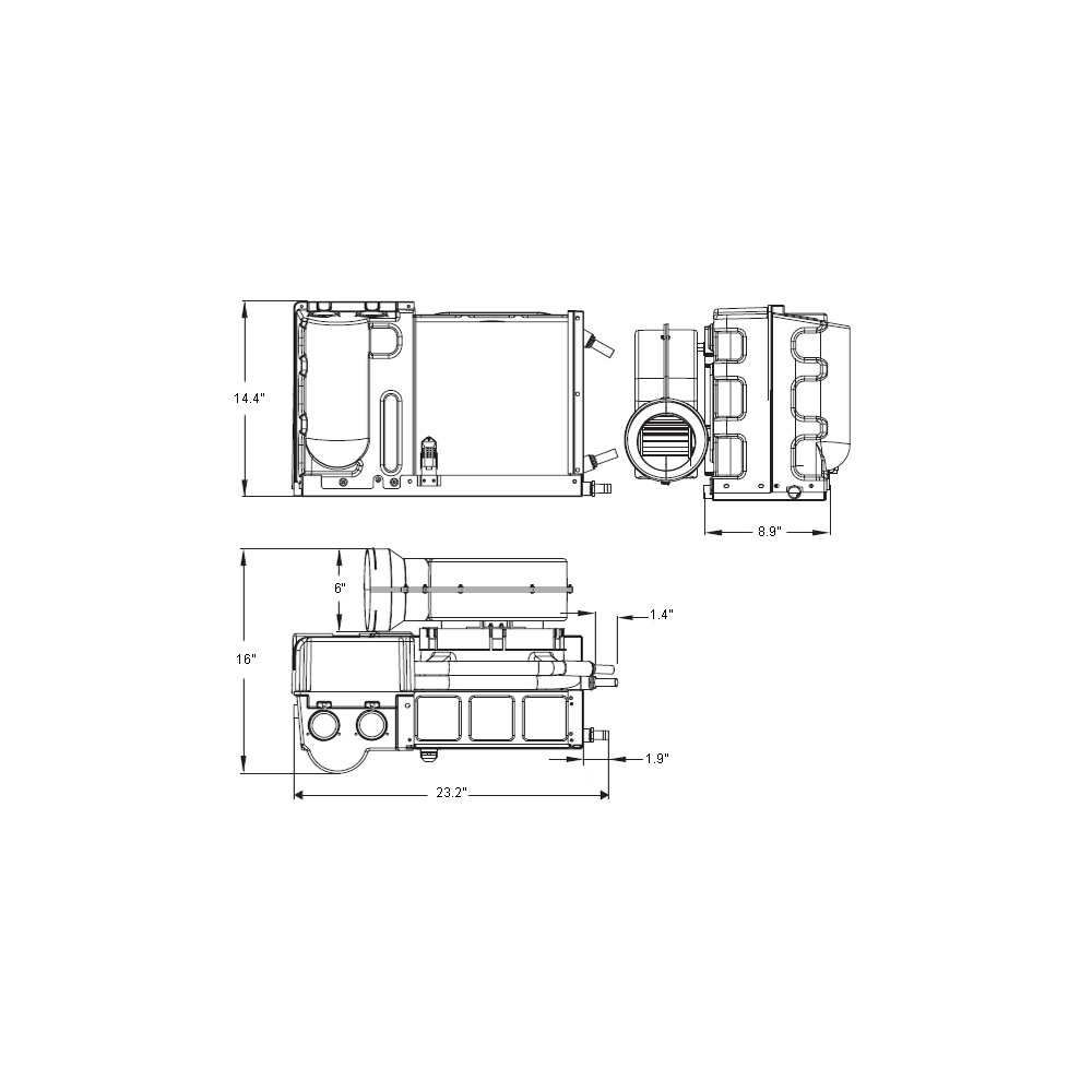 16000 Btu 230v Self Contained Marine Air Conditioner System Best Lcd Meter Wiring Diagram Msba16c2