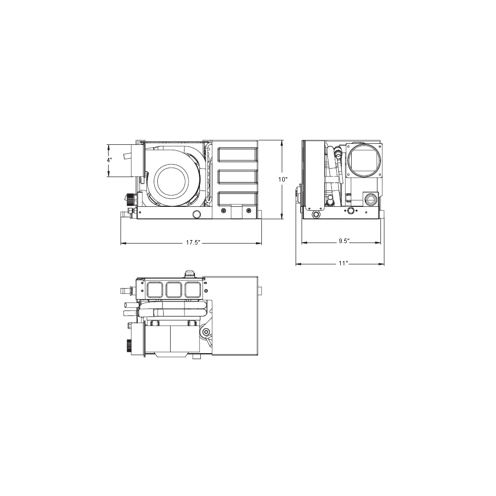 6000 Btu 110v Self Contained Marine Air Conditioner System Best Cruisair Ac Wiring Diagram Msba6k2